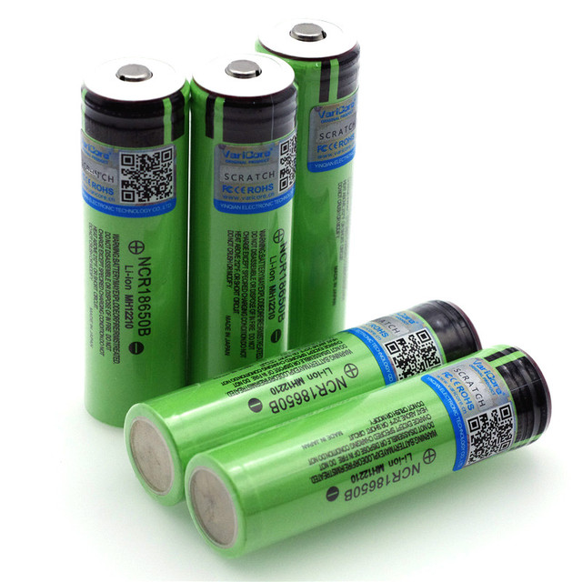 2021 New Original 18650 3.7 v 3400 mah Lithium Rechargeable Battery NCR18650B with Pointed (No PCB) batteries +Box 5