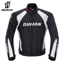 DUHAN motosiklet ceket erkekler koruyucu donanım Moto ceket motosiklet pantolon rüzgar geçirmez soğuk geçirmez Touring motosiklet sürme takım elbise