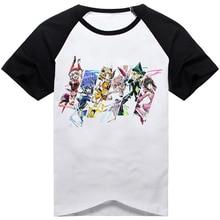 Новинка; аниме Senki Zessho Symphogear; футболка для ролевых игр; tachibana hibiki Kazanari Tsubasa; Повседневная футболка с короткими рукавами; модная футболка