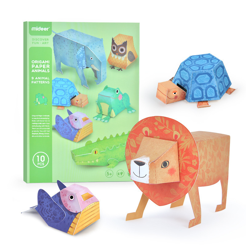 Children's Origami Book 3d Cognitive Matching Kids Manual Diy Kindergarten Primary School Students 3-6 Years Old Paper-cut Toys
