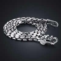 Neue 925 sterling silber halskette anhänger für mann Retro Thai silber 5mm 61cm drachen halskette Männlichen silber schmuck zubehör
