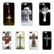 White Cross Jesus For Apple iPhone X XS Max XR 4 4S 5 5C 5S SE 6 6S 7 8 Plus New High Quality Multi Phone Case(China)