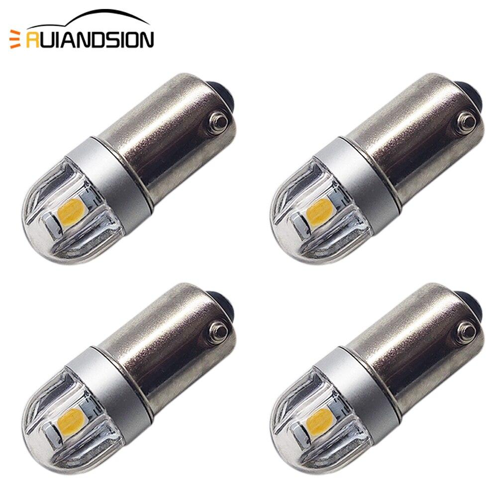 Автомобильная паркосветильник лампа RUIANDSION4X BA9S T4W 3030SMD 6 в 12 В 6000 лм 4300K 12913 12910 12929 T2W T3W H5W