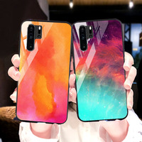 silicone case Tempered Glass Case For Huawei P30 P20 pro Cases Space Silicone Covers for Huawei P30 P20 lite 2019 P20 lite 2018 back cover (1)