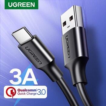 UGREEN, Cable USB tipo C para Xiaomi Redmi Note 7 mi9, Cable USB C para Samsung S9, Cable de carga rápida, Cable de carga USB-C para teléfono móvil