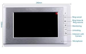 "Image 3 - ฟรีSHIPP 7 ""LCDประตูวิดีโอโทรศัพท์ระบบอินเตอร์คอมRFID Accessกล้องกลางแจ้งสำหรับ2 Family Apartmentจัดส่งฟรี"