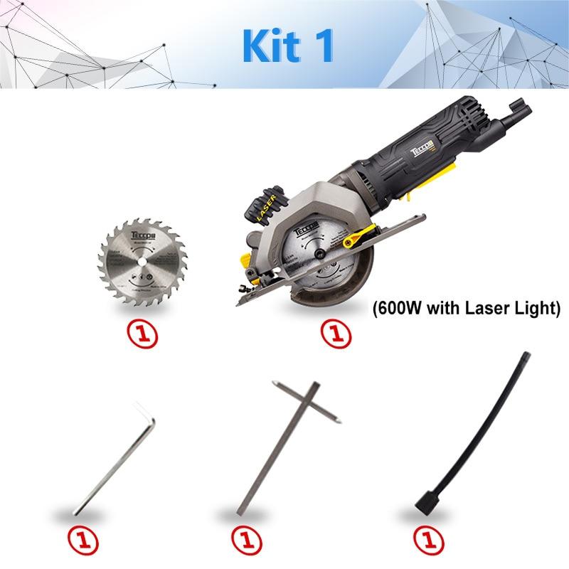 600 Вт Электрический электроинструмент, электрическая мини-циркулярная пила с лазером, DIY многофункциональная электрическая пила для резки дерева, ПВХ трубки, плитки - Цвет: kit1 766P-L