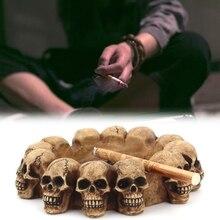 Creative Skull Ashtray Cigarette Tray Container Resin Smoking Accessories Decor