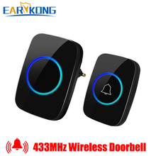 Wireless Doorbell Intelligent Home Welcome Doorbell Waterproof 300m Remote smart Door Bell Chime EU AU UK US Plug Optional yifan wireless doorbell waterproof eu us au plug door bell chime 300m remote 433mhz ac 110v 220v 2 emitter 1 receiver no battery