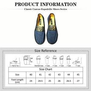 Image 2 - F.N.JACK Espadrille semelles en caoutchouc pour hommes, chaussures en toile intelligente, vip link, chaussures de mode décontractée