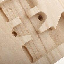 Sycamore guitarra de madeira corpo inacabado para st guitarra diy material luthier ferramenta