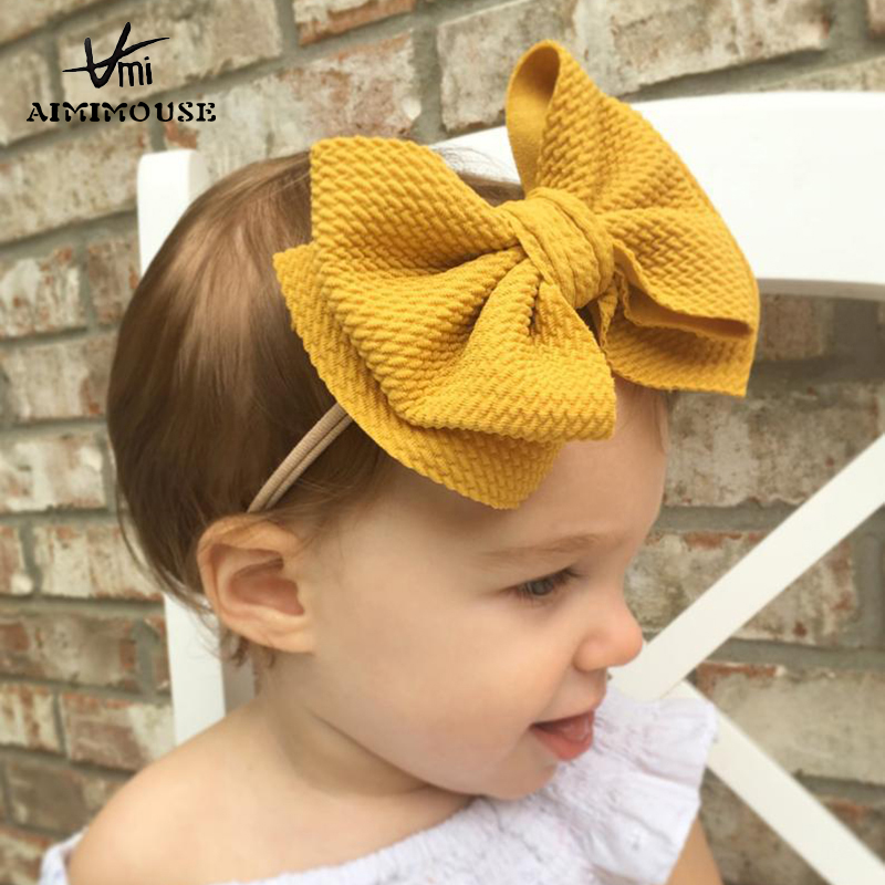 Baby Girls Headbands Baby Hair Accessories Girls Toddler Head Wrap Infant Rabbit Bow Knot Turban Headband Baby Christmas Gifts