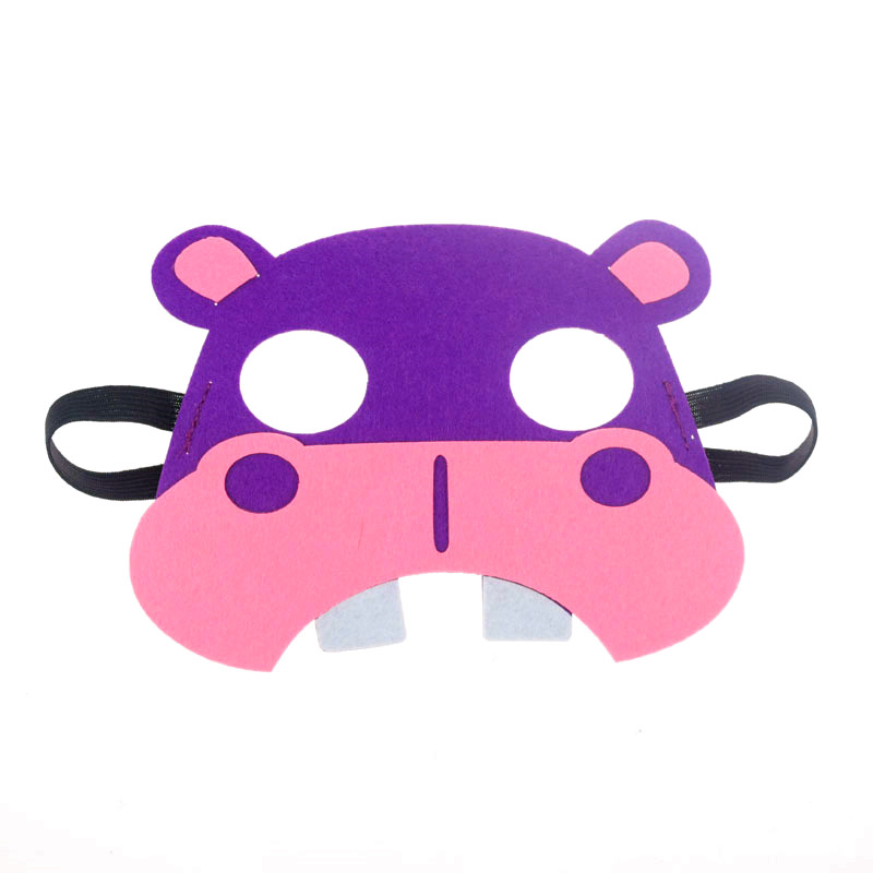 Halloween Costume Hippo Costume  Animal Face Mask Felt Mask Kids Face Mask Kids Hippopotamus Mask Dress Up Pretend Play Party Favors Costume
