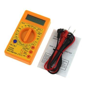 DT-830D Mini kieszonkowy multimetr cyfrowy 1999 zlicza AC DC Volt Amp Ohm dioda hFE Tester ciągłości amperomierz woltomierz omomierz tanie i dobre opinie CN (pochodzenie) Digital Multimeter Yellow Digital Display Electrical