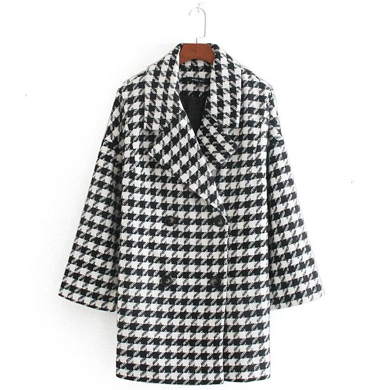 RR vestes pied-de-poule femmes mode Double boutonnage manteaux femmes élégantes à manches longues vestes femme dames IP