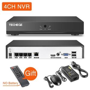 Image 3 - Techege HD 1080P 4CH וידאו מצלמות מערכת שתי דרך אודיו 2MP עמיד למים IP מצלמה דמוי אדם זיהוי 4CH 1080P POE NVR CCTV ערכת