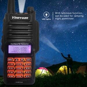 Image 5 - Baofeng Walkie Talkie UV 9R Plus, resistente al agua, 8W, UHF, VHF, banda Dual, 136 174/400 520MHz, Ham CB, Radio FM, escáner transceptor