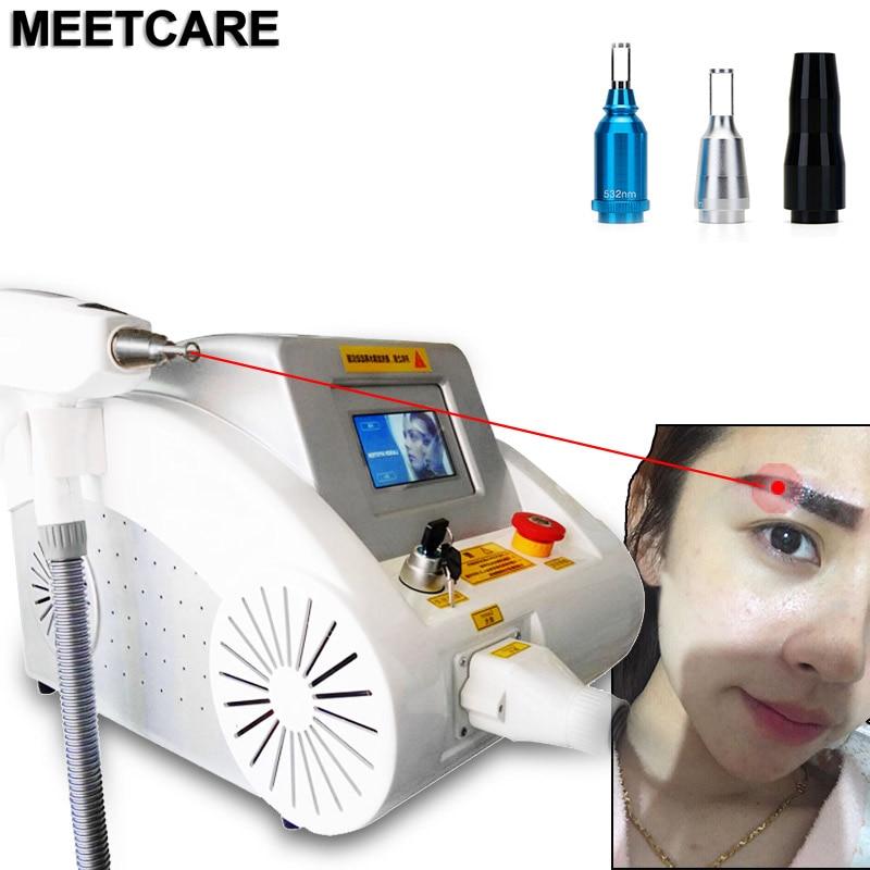 Schönheit Maschine 1064nm 532nm 1320nm ND YAG Laser Tattoo Entfernung maschine laser entfernen tattoo Augenbraue Pigment Verwendung für Salon-Center