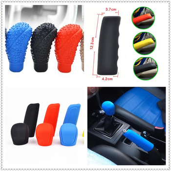 1set Car rubber Shift Gear Knob Cover Handbrake Skin Protector for BMW 335is Scooter Gran 760Li 320d 135i E60 E36 F30 F30 image