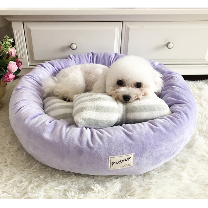 Купить круглая кровать для собак корзина кошек супер мягкая домашних