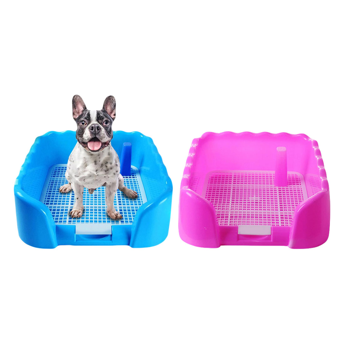 Portable Puppy Training Tray with Fence for Pet Dogs and Cats Potty and Pee Training Indoor 8