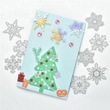 Naifumodo Snowflake Cutting Dies Christmas Metal Stencils Die Cut for DIY Scrapbooking Album Paper Card Embossing