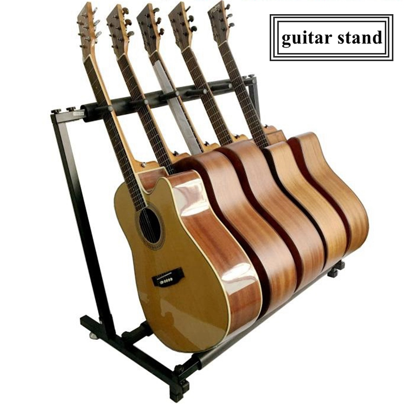 5 Piece Guitar Holder Stable Multiple Folding Display Universal Guitar Stand Bass Holder
