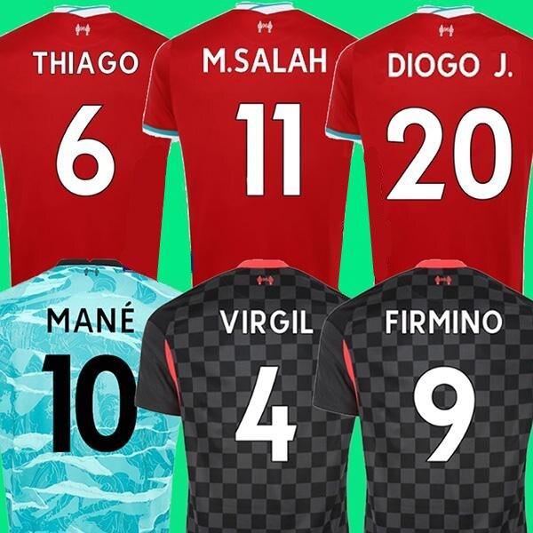 20 21 LVP Mohamed M Camiseta de fútbol SALAH FIRMINO THIAGO 2020 2021, camiseta de fútbol DIOGO JOTA J. VIRGIL LIVerpool kit para niños, hombre|Camisetas| - AliExpress