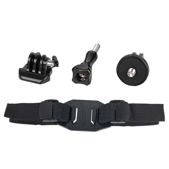 Helmet holder strap kits for insta360 one x x2 action camera adjustable belt mount panoramic camera bracket accessory