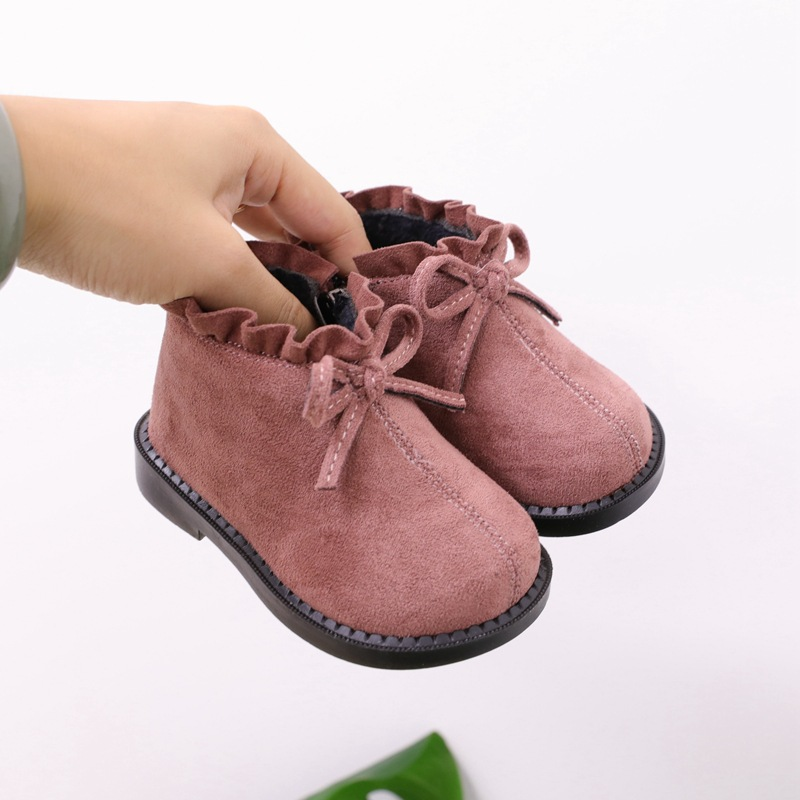 Children's Shoes Baby Cotton Shoes Autumn And Winter Toddler Shoes Soft Bottom 0-3 Years Old Princess Boots Snow Boots