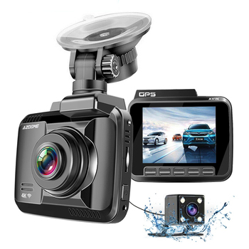AZDOME GS63H 4K Car DVR Speed Coordinates Dash Cam WiFi Night Vision Auto Mirror Vehicle Recorder Dual Lens Camera Support GPS image