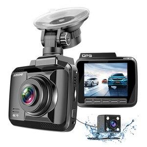 Azdome gs63h 4 k carro dvr velocidade coordenadas traço cam wifi visão noturna espelho automático veículo gravador de lente dupla câmera apoio gps