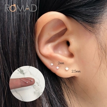 Romad Fashion Wild S925 Sterling Silver Stud Earrings Women Zircon Opal Silver Stud Earrings Jewelry