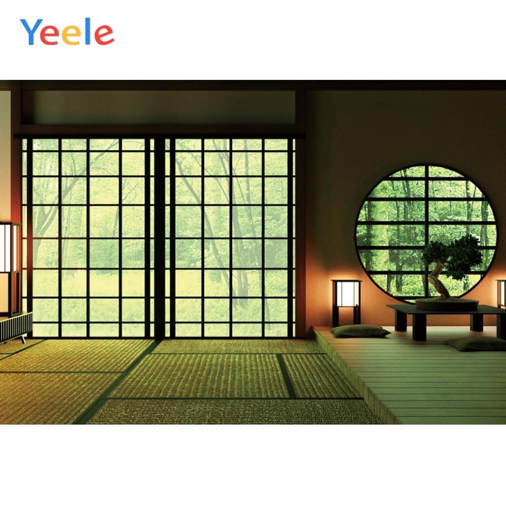 Yeele sala de estar estilo japonês casa janela interior retrato fotografia backgrops gráfico para estúdio de fotos