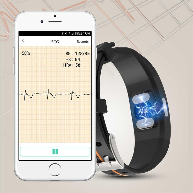 "KAIHAI H66 לחץ דם מדידה להקת קצב לב צג PPG אק""ג חכם צמיד שעון פעילות כושר tracker צמיד"