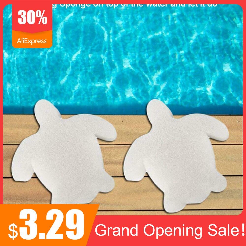 10 Pcs Turtle Oil Absorbent Sponge Multifunction Cleaning Sponge Pool Filter Sponge For Swimming Pool Hot Tub Spa Swimming Pool