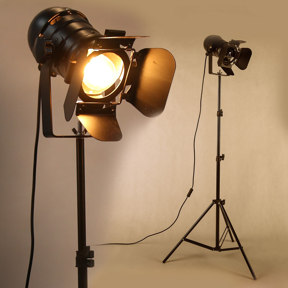 산업 바 크리 에이 티브 스튜디오 레트로 삼각대 블랙 플로어 램프 조명 룸 라이트 스탠드 천장 조명