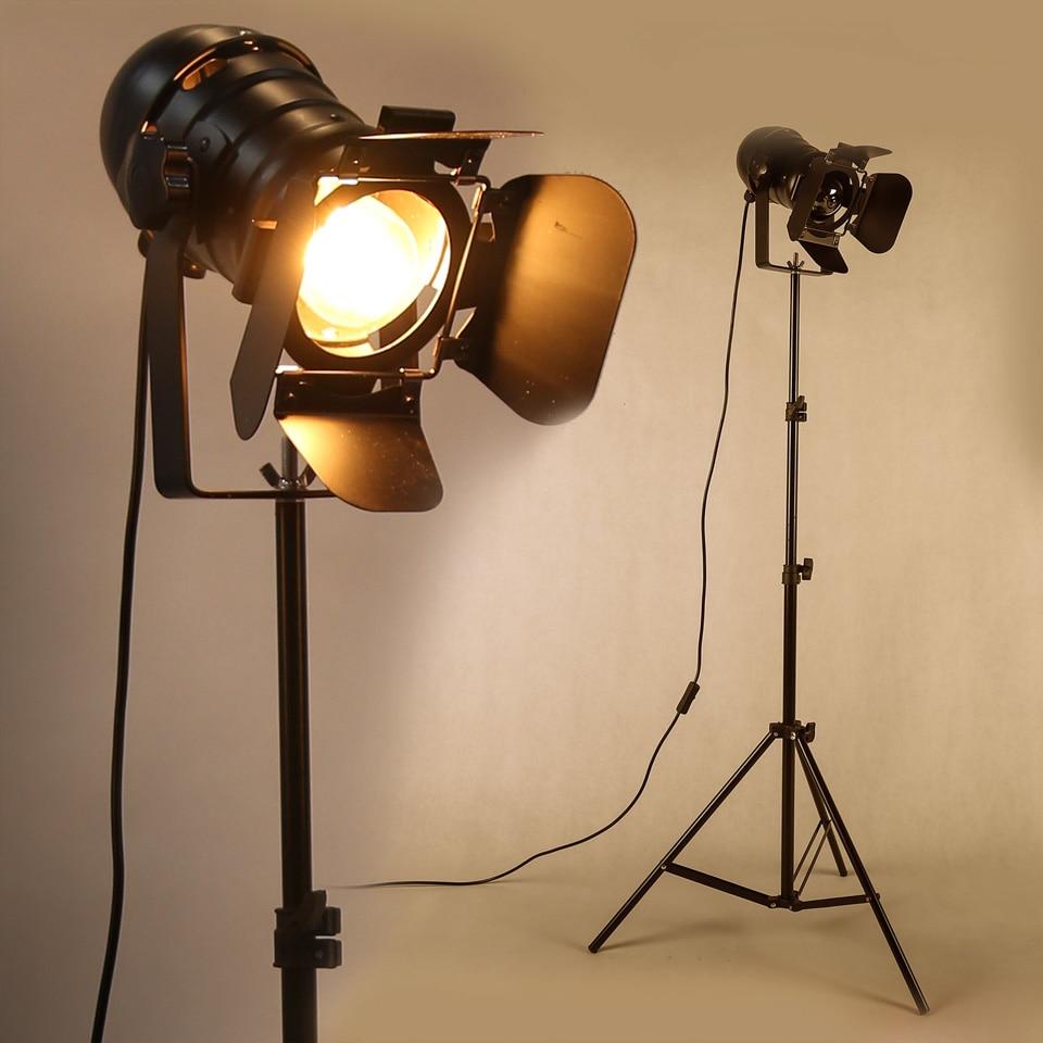 Barre industrielle Studio créatif rétro trépied noir lampadaire lumières salle lumière support plafond éclairage