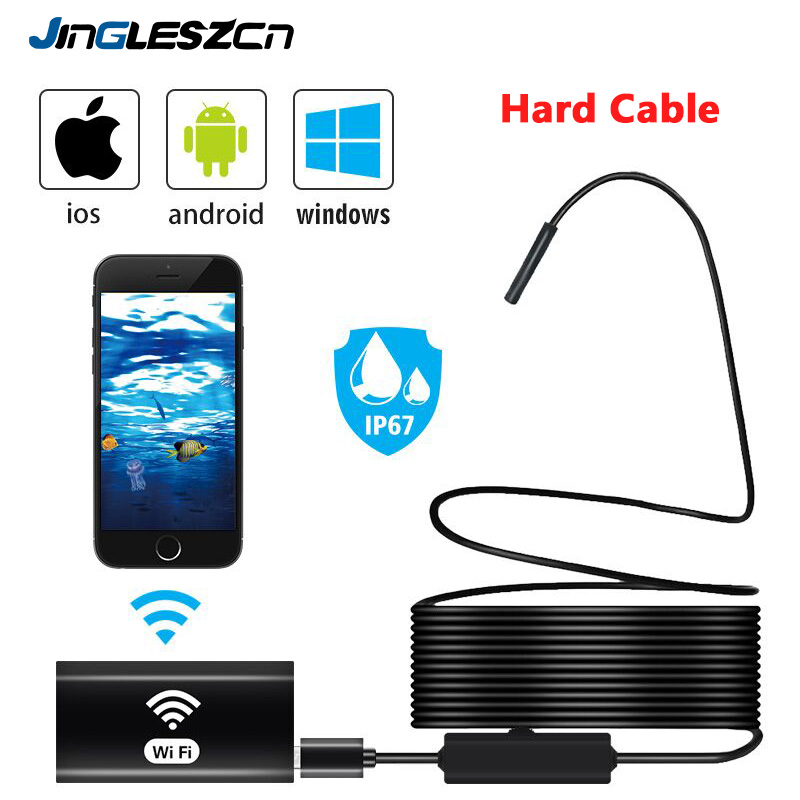 Wifi Endoscope Camera IP67 Waterproof WiFi Borescope 720P HD Inspection Camera Snake Camera for Android Iphone iOS PC image