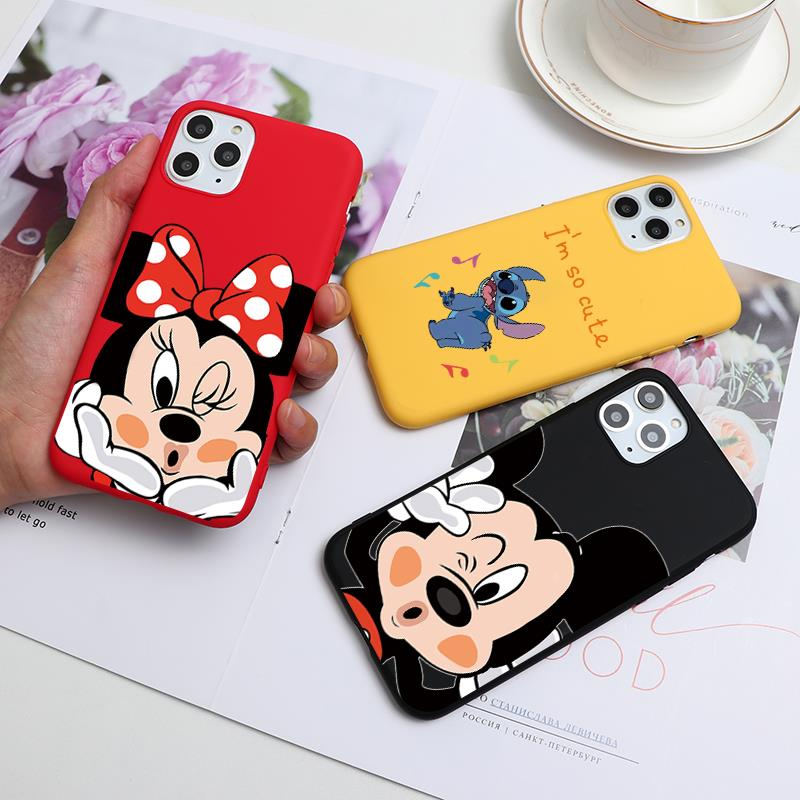 Cartoon Cute Print Soft TPU Cases For iPhone 5 5S SE 6S 8 7 6 S Plus 9 Matte Back Coque For iPhone X 11 Pro XS Max XR Phone Case