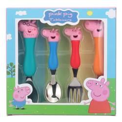Peppa Pig игрушечная посуда ложка гоночная вилка ложка для супа набор обеденный Ланч Джордж фигурки аниме фигурки игрушки для детей подарок