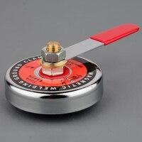 強力な強力な磁気溶接接地装置ロッド磁気溶接アースクランプマグネットベース 16LBS 65LBS