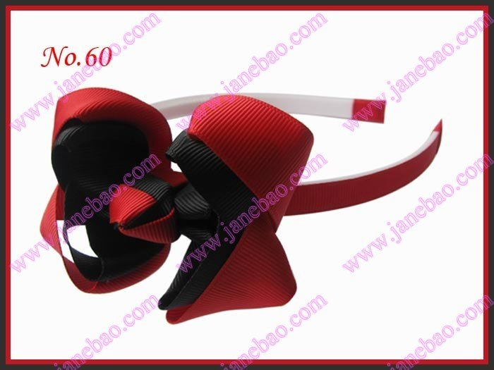 """50 шт эксклюзивная повязка на голову для девочек 3-3,"""" двухцветная двойная заколка для волос с бантом"""