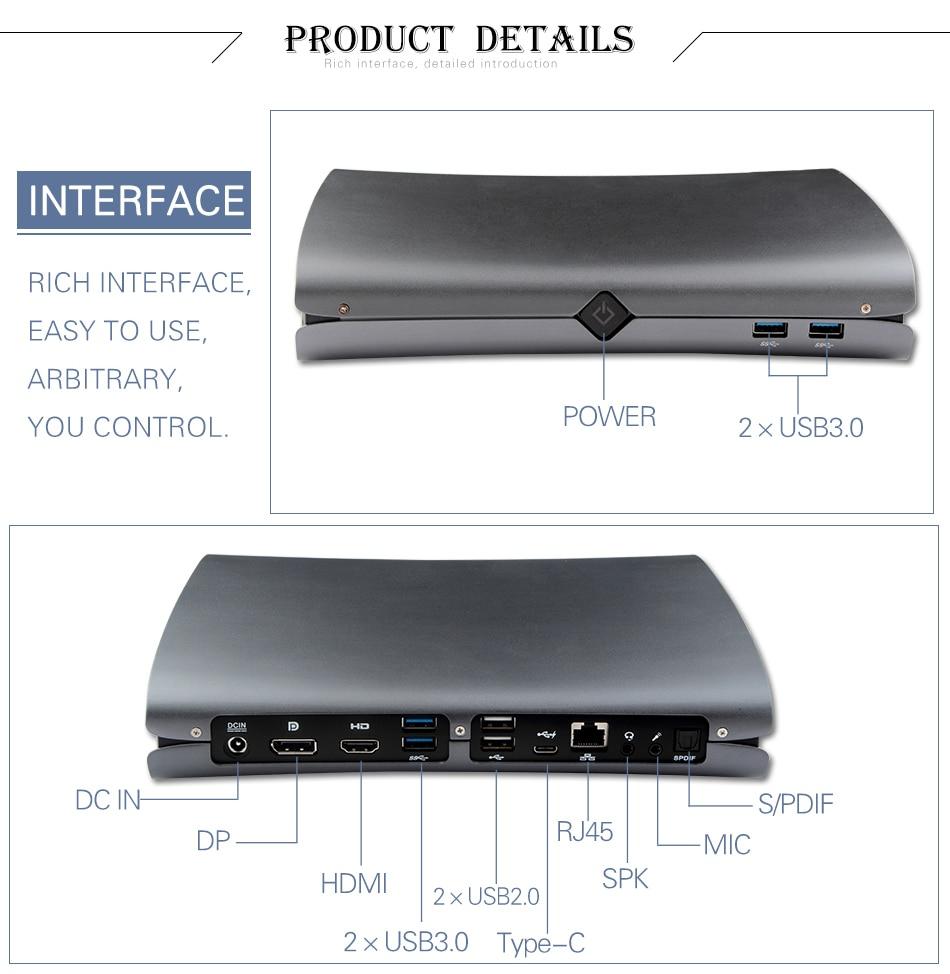 Game Mini PC Intel Core I5 6300HQ I7 6700HQ Dual Graphics Nvidia GTX960M DDR5 Windows 10 Pro Mini Computer DP HDMI Type-C