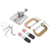 Профессиональный ручной работы Skiver кожаный ремешок резак алюминиевый ручной сплиттер DIY ремесла швейный инструмент для очистки овощей домашняя машина полосы ремень