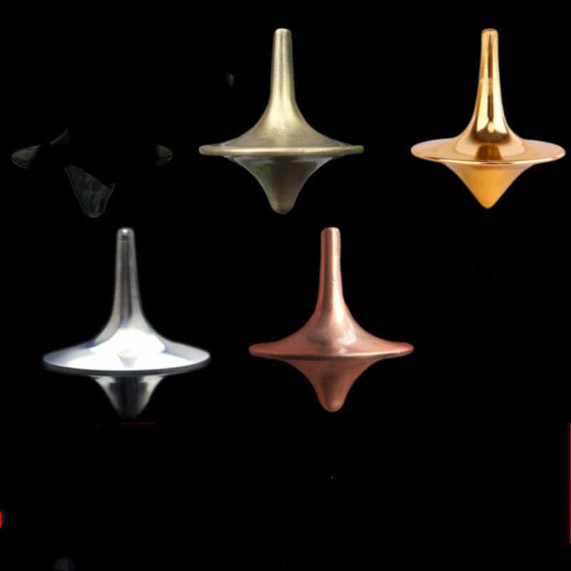 Металлические спиннинговые игрушки для детей для взрослых стоп-стресс гироскоп офисные Вечерние игры отжим Спиннер гироскоп игрушка 2 цвета