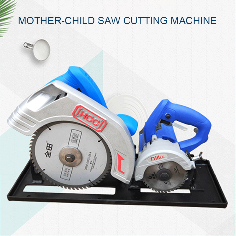 Woodworking Electric Saw Cutting Machine Double Saw Blade Dust Free Saw Wood Cutting