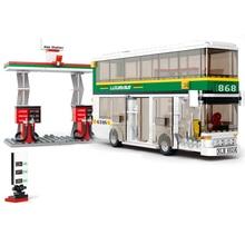 City Town Bus Station Star Tour School doouble london Building Blocks Classic Car bus Model Legoingly Toys for Children blocks