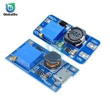 MT3608 DC-DC Einstellbar Boost Modul 2A Boost Platte Schritt Bis Modul mit MICRO USB 2V-24V zu 5V 9V 12V 28V Für Arduino
