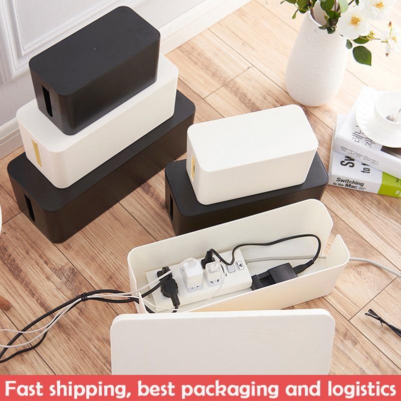 Пластиковая коробка для хранения проводов, распределительная коробка для линий питания, коробка для хранения кабеля, коробка для хранения, ...